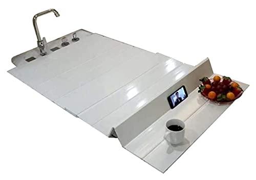 Cubierta de la bañera Cubierta de baño Anti-polvo plegable placa de polvo bañera cubierta de aislamiento PVC blanco plegable bañera cubierta Materiales seguros y ecológicos. ( Size : 131/70*0.6cm )