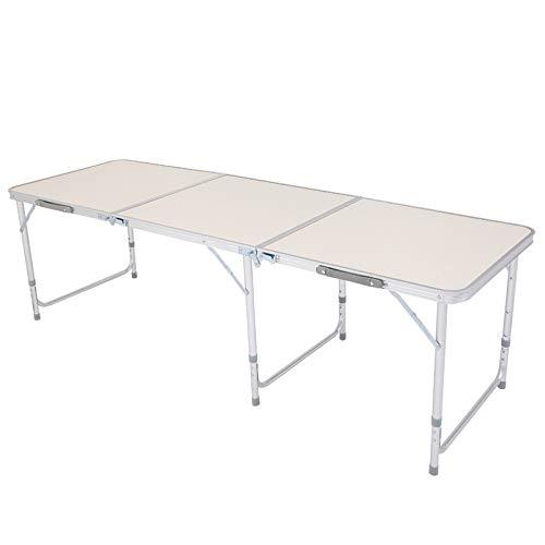 Aleación de Aluminio para el hogar Mesa Plegable, Blanca