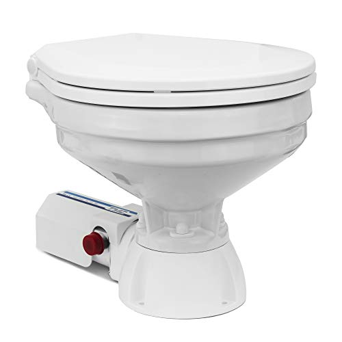 TMC Marine Electric Toilet Large Bowl with Macerator Pump for Boats and RVs, 12V FO-1560