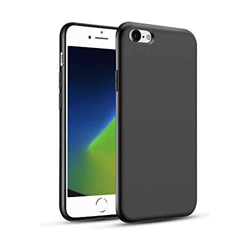 Agedate Funda para iPhone 6/6s, Carcasa Anti-Choques y Anti-Arañazos,Silicona TPU Compatible con iPhone 6/6s - Negro