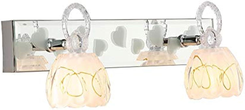 Edelstahl wasserdicht Spiegel Front-LED 6 W Anti-fog Feuchtigkeits- Badezimmer Toiletten Einfache moderne Wandleuchte Schrank Make-up-Spiegel Kommode Spiegelschrank spezielle Lampen (warmes