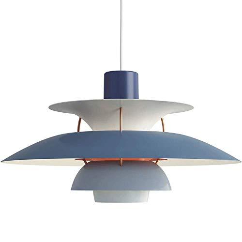 JppeamA Pendelleuchte Dänemark Design Hängeleuchte Esszimmer Mitte des Jahrhunderts Wohnzimmer Loft Kronleuchter E27,O-XXXL(15.7in)