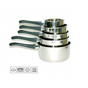 A.K TRADING Casserole INOX X 5 LOT Induction PP Code 1208