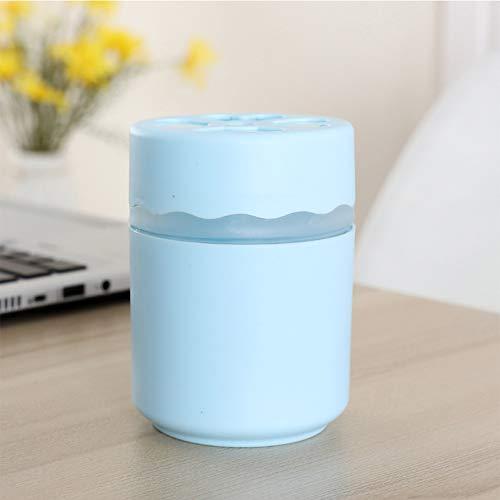 ZRK Nuevo hogar pequeña Oficina de Escritorio Mini humidificador Creativo Regalo Dual Color Opcional Coche USB humidificador Mute humidificación Disfrutar de hidratación automática Apagado,Blue