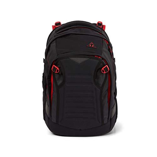satch Match, Fire Phantom ergonomischer Schulrucksack, erweiterbar auf 35 Liter, extra Fronttasche