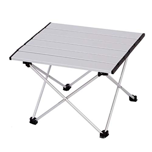 zhangmeiren Aluminum Outdoor Folding Table Folding Small Table Portable Barbecue Stall Tables (Color : Silver, Size : Large)