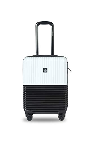 Nasher Miles Istanbul 20 Inch ,Cabin, Hard-Sided, Polycarbonate Luggage, Black and White 55cm Trolley Bag