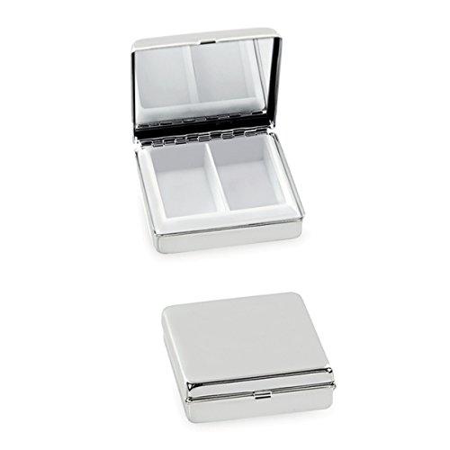 Pastillero Medicinal 5x 5x 1,5cm plata PL. De alta calidad y estable producto