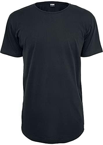Urban Classics Herren Shaped Long Tee T-Shirt, Schwarz (Schwarz 7), XL