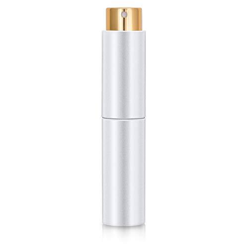 10 ml tragbare, nachfüllbare Parfümzerstäuber mit Trichter und Nachfüllpumpe für Outdoor-Reisen (weiß)