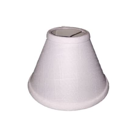 Upgradelights 7 Inch Empire Clip On Chandelier Lampshade 3x7x5 White Linen