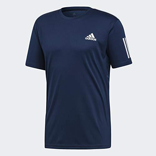 adidas Club 3STR Tee T-Shirt, Uomo, Collegiate Navy/White, XS