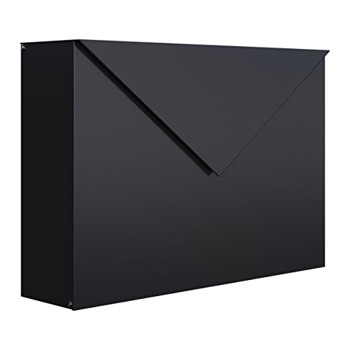 Briefkasten, Design Wandbriefkasten Letter Schwarz - Bravios