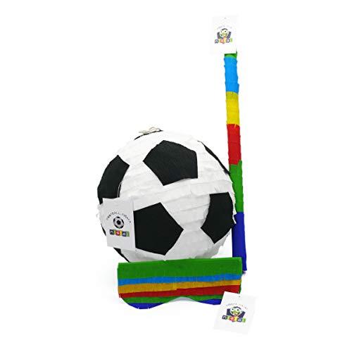 Nislai Pinata Fussball Party Set NEU: Piñata Fußball & Pinata Maske & Pinata Stab - (Pinata+Maske+Stab)