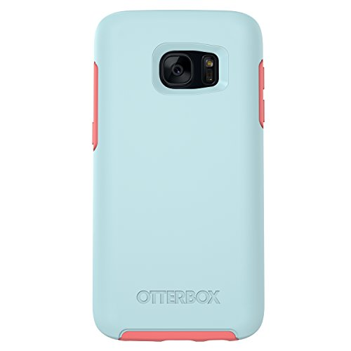 OtterBox SYMMETRY SERIES Case for Samsung Galaxy S7 - Retail Packaging - BOARDWALK (BAHAMA BLUE/CANDY PINK)
