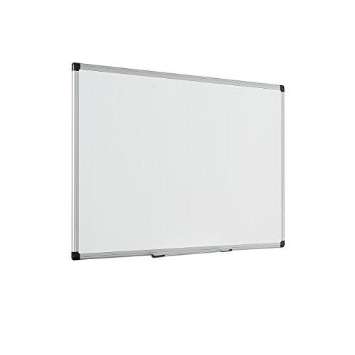 Bi-Office Magnetisches Whiteboard Maya - 90 x 60 cm - Emaillierte Premiumoberfläche, Trocken Abwischbar, Mit Alurahmen Und Stifteablage, Magnettafel, Memoboard