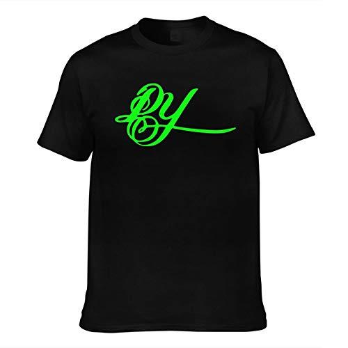 Men's T-Shirt Daddy-Yankee Same Popular Logo-Printed Trendy Short Sleeve Tees Men Top T Shirts Asian Size Black