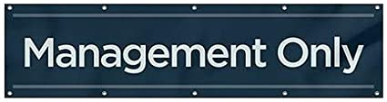 Management Only 12x3 CGSignLab Basic Navy Heavy-Duty Outdoor Vinyl Banner