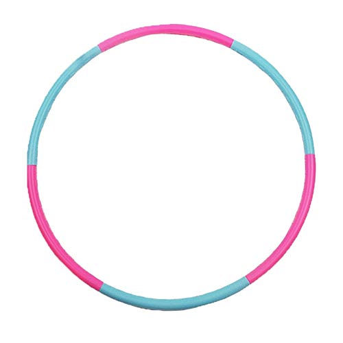 HOUHOU Aros Deportivos Desmontables para Adelgazar, 6 Tubos de 750 mm, para Pilates, Yoga, Gimnasia, Masaje, pérdida de Peso Hula Hoop (Color : Multi-Colored)