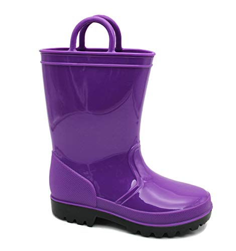 SkaDoo Dark Purple Kids Rain Boots 10 M US Toddler