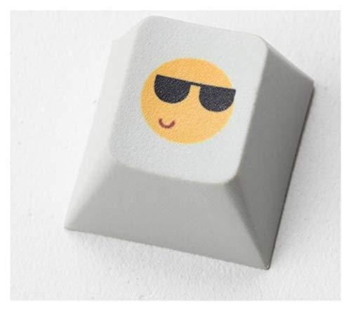 juqingshanghang1 1 stück keycap neuheit pbt keycap für mechanische tastaturen Farbstoff sub Legends gemütlich lächeln lustig schwarz gelb (Color : Cozy Smile x1)
