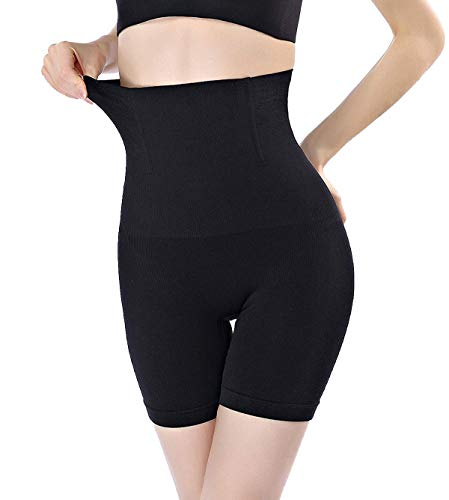 DODOING High Waist Cincher Trainer Butt Lifter Tummy Slimming Control Panties Shaper Shapewear Boy Short Black