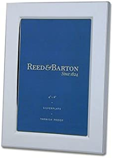 Reed & Barton Classic Channel 4-by-6-Inch Silver-Plated Picture Frame