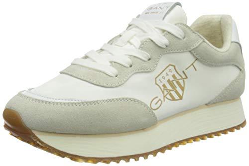 GANT Bevinda Sneaker, Zapatillas Mujer, Blanco Crudo, 38 EU