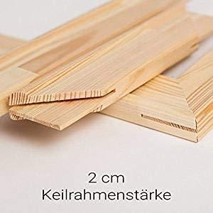 generisch Keilrahmen Bausatz 2 cm Holzleisten Set selbst zusammenbauen ohne Leinwand (60x90)