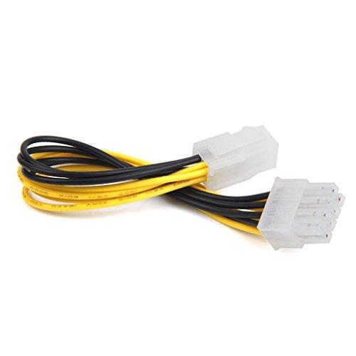 Kaxofang ATX de 4 Pines Macho a 8 Rendimiento de CPU del Adaptador del Cable de alimentacion EPS Pin Hembra