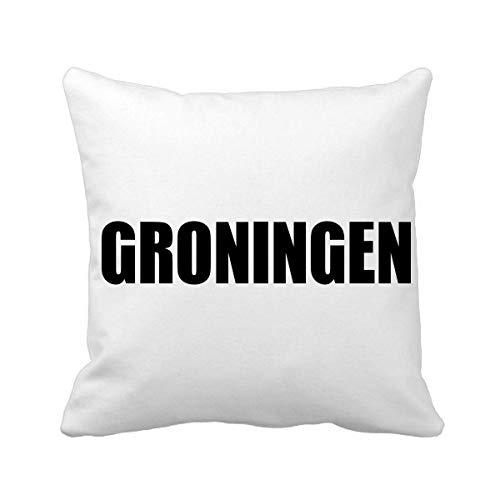 DIYthinker Groningen Nederland Stad Naam Plein Gooi Kussen Invoegen Kussen Cover Thuis Bank Decor Gift