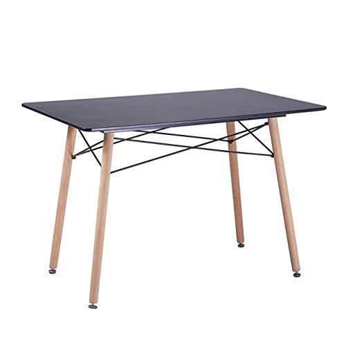 IPOTIUS Tavolo da Pranzo Rettangolare Stile Nordico Tavolo da Cucina Scandinavo Tavoli in Legno,110x70x72cm Nero