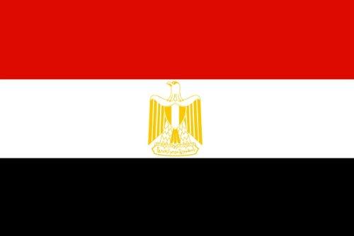 Qualitäts Fahne Flagge Ägypten 90 x 150 cm mit verstärktem Hissband