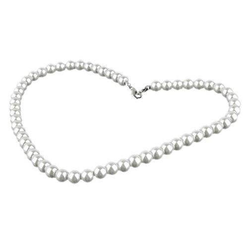 SODIAL(R) Collana di Perle Affascinante al Metallo Fibbia Costume