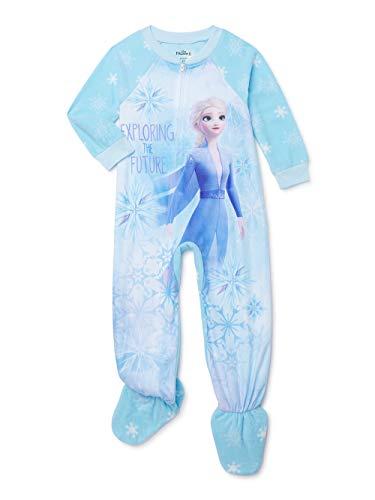 Disney Frozen Pajamas for Toddler Girls Footed Blanket Sleeper Elsa PJs (4T) Blue