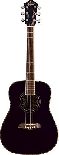 Oscar Schmidt 6 String OG1B 3/4 Size Dreadnought Left Hand Acoustic Guitar. Black, (OG1BLH-A)