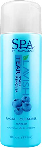 Tear Stain Remover TropiClean Spa Facial Scrub for Dogs, 8 oz-Bottle