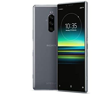 Sony Xperia 1 J9110 Dual-SIM 128GB/6GB Dual Sim - International Model - No Warranty in The USA - GSM ONLY, NO CDMA (Gray)
