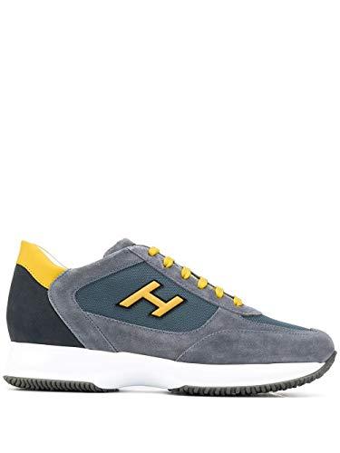 Hogan Luxury Fashion Herren HXM00N0Q102N6Z50C0 Grau Wildleder Sneakers | Frühling Sommer 20