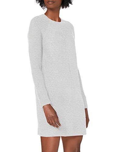 ONLY Damen Strickkleid ONLCarol 15196724 Light Grey Melange M