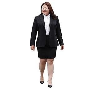 Somnus258 超大きい サイズ 10XLまで 男性対応 女装 衣装 メンズ 変装 ol スーツ コスプレ 3点 セクシー セット ミニ スカート 制服 リクルート 事務服 ブラウス 長袖 就活 通勤 レディース 女性 ビジネス コスチューム(10XL)