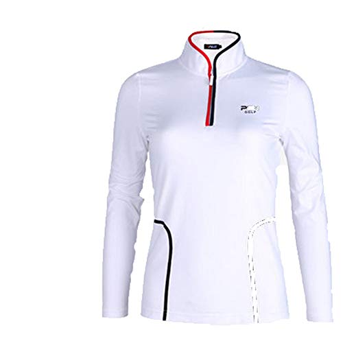 HCCX Golf Shirts-Dames afslanken T-shirts, Sport elastische stoffen, Zomer zonnebrandcrème POLO Shirts