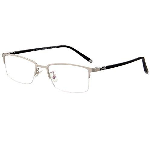 LianSan L7022 - Occhiali da lettura rettangolari a mezza montatura TR