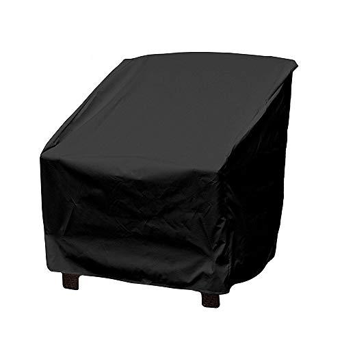 Warooma - Funda para muebles de patio, impermeable, para exteriores, jardín, césped, sofá, patio, negro, 64 x 64 x 70 cm