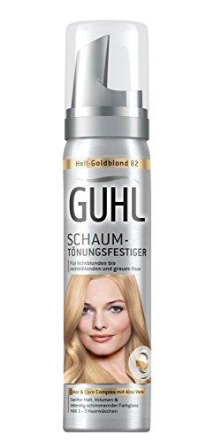 Guhl Schaum-Tönungsfestiger 82 Hell-Goldblond - 1er Pack (1 x 75 ml) - mit Aloe Vera - schenkt sanften Halt - für lichtblondes bis mittelblondes und graues Haar