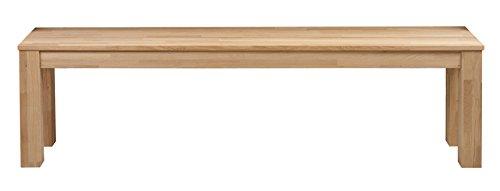 PEGANE Banc rectangulaire en chêne Naturel, H 46 x L 160 x P 30 cm