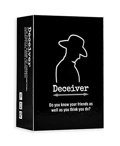 Deceiver Card Game - The Party Game of Observation, Deception, and Laughter, Family Game for Adults...