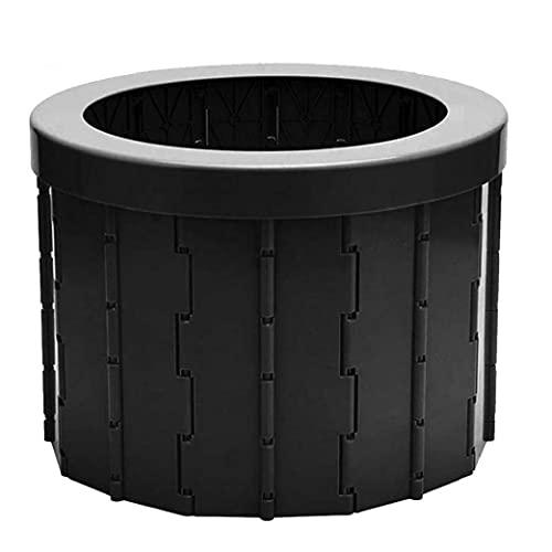 WC Plegable portátil Plegable Camping WC WC para el Recorrido del Cubo de Asiento de Inodoro