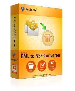 SysTools Convertisseur EML en NSF (Livraison par courrier électronique - pas de CD)