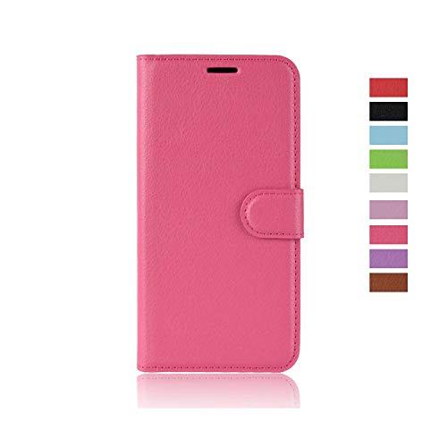 cookaR Ulefone Power 3 Handy Hülle Tasche Flip Hülle Kredit Karten Fach Geldklammer Leder Handy Schutzhülle Unsichtbar Magnet Verschluss Standfunktion,Rose Gold